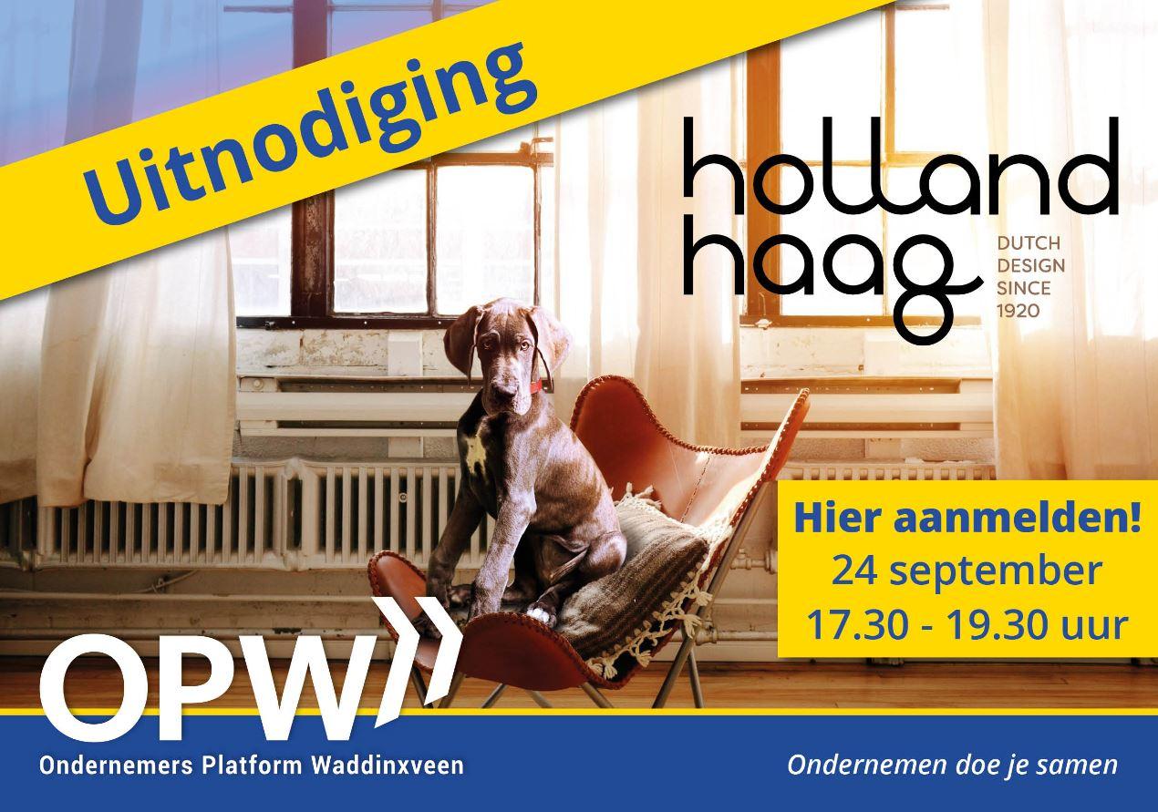 businesscontact, OPW, Holland Haag, aanmelden, september, netwerken